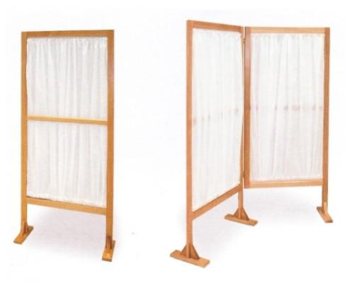 Ширма односекционная / двухсекционная на деревянном каркасе (бук)