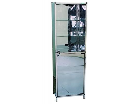 Шкаф медицинский одностворчатый из нержавеющей стали
